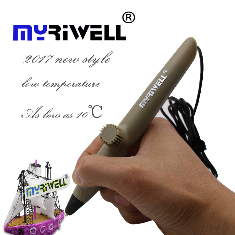 2017 new Myriwell 3D Printing Pens RP-200A USB Low Temperature 3D Doodle Pen with PCL material safe for Kids Drawing Gifts