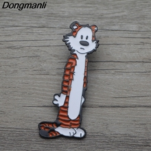 L3680 Calvin and Hobbes Tigger Metal Brooches Pins Enamel Pin for Backpack Bag Badge Brooch T-shirt Collar Jewelry 1pcs
