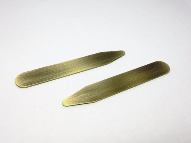 Shanh Zun 4 Pcs Brass Collar Stays Dress Shirts A Leather 22 Inch 25 Bf Son Shirt Bone