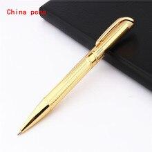 Роскошная Качественная ручка 719 золотистая деловая офисная средняя ручка шариковые ручки новые студенческие офисные канцелярские принадлежности