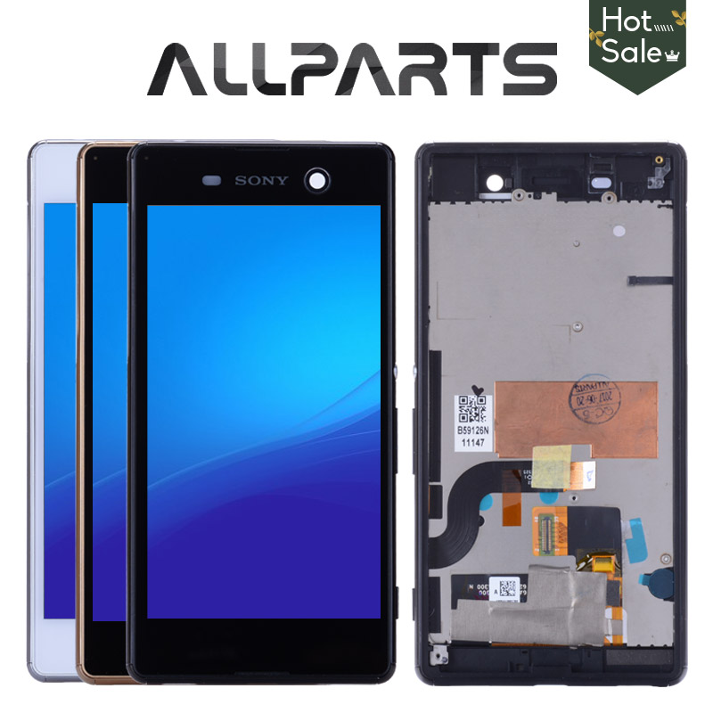 For Sony Xperia M5 LCD Tested Original 5.0 For Sony Xperia M5 LCD Display Touch Screen Digitizer E5603 E5606 E5653