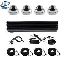 Ssicon 4ch HD 720 P AHD CCTV Системы 1200tvl безопасности Камера ИК ночного Крытый моды Камеры Скрытого видеонаблюдения комплект