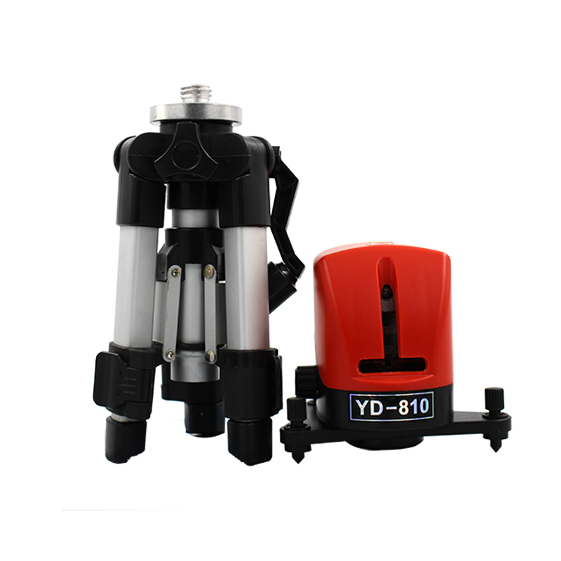 YD 810 360 degree self leveling Cross Red Laser Level Wave length 635nm 2 line 1