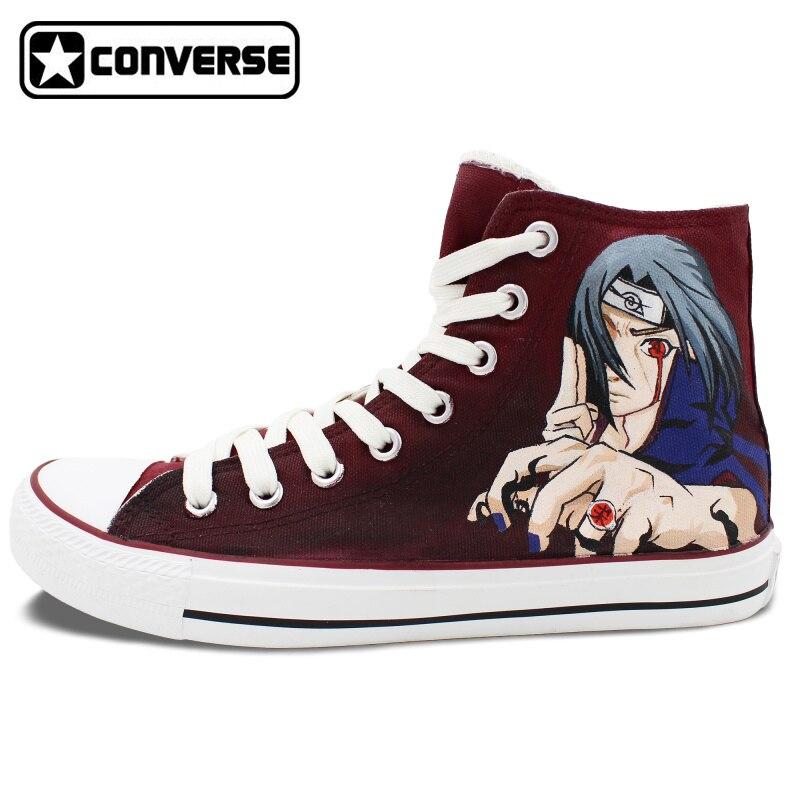 1696866c1d0b1f Sneakers Men Women Converse Anime Naruto Yondaime Minato Uchiha Itachi  Design Hand Painted Shoes High Top