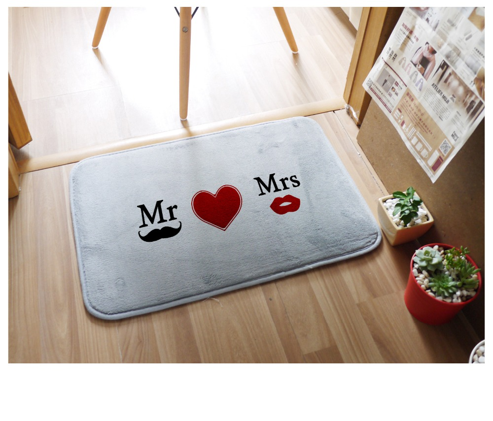 compare prices on bamboo door mats online shoppingbuy low price  - pcs cm fashion print pattern mrmrs wedding floor mat carper rugporch doormat floor