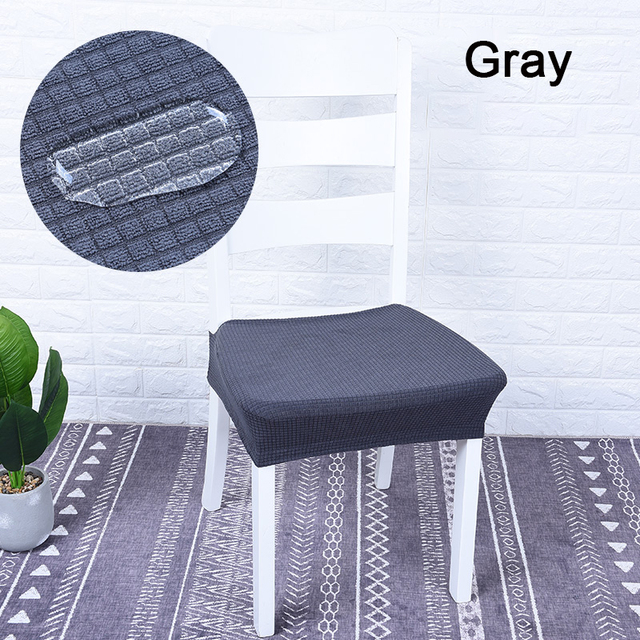 Monily Waterproof Solid Plaid Dining Room Chair Protector Cover Elastic Spandex Polyester Seat Kitchen