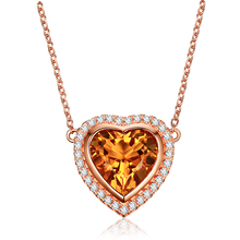 Buy citrine heart pendant and get free shipping on aliexpress 31ct natural citrine 925 silver heart pendant necklace for women 925 sterling silver citrine diamond mozeypictures Image collections