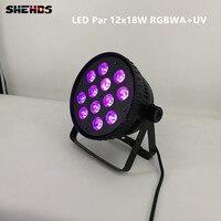 2pcs Lot Aluminum Alloy LED Par12x18W RGBWA UV Light Wash Light For Event Disco Party Nightclub