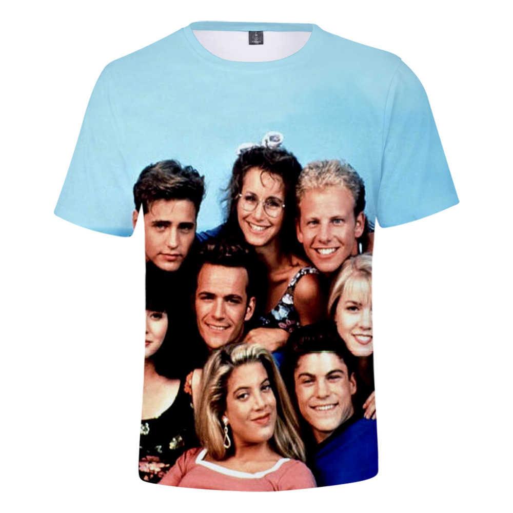 Beverly Hills 90210 Luke Perry 3D Stampato T-Shirt da Donna/Uomini di Modo di Estate Manica Corta T shirt 2019 Casual Streetwear vestiti