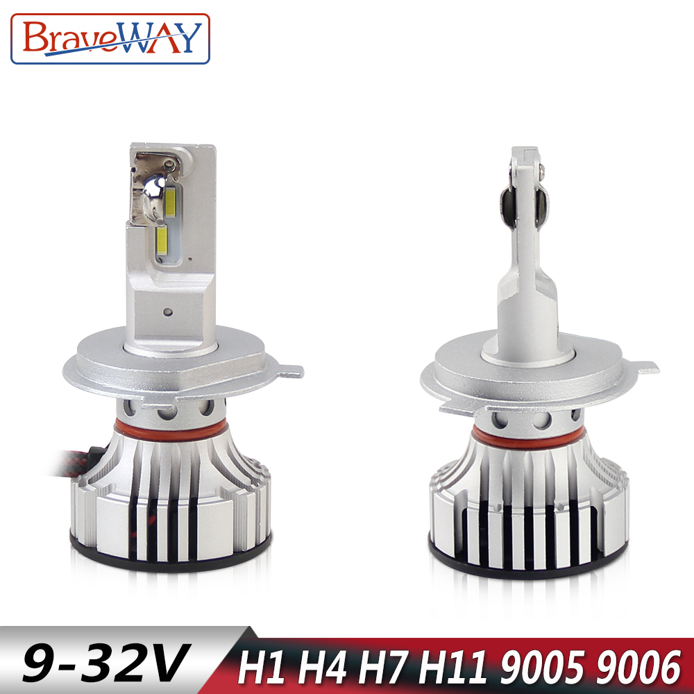 BraveWay Car Headlight Bulbs H7 LED Canbus H1 LED H4 H7 H8 H9 H11 HB3 HB4
