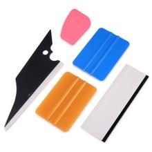 FOSHIO 5Pcs Car Squeegees Vinyl Film Wrap Tools Kits Window Tints Scraper Vehicle Windshield Wiper Tool Set Auto Accessories