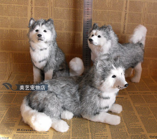 cute dog simulation husky dolls teaching model decoration birthday holiday gift girl christmas gift desktop decoration in felt from home garden on