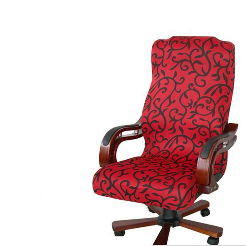 2017 large size office computer chair cover side zipper for Armchair side covers