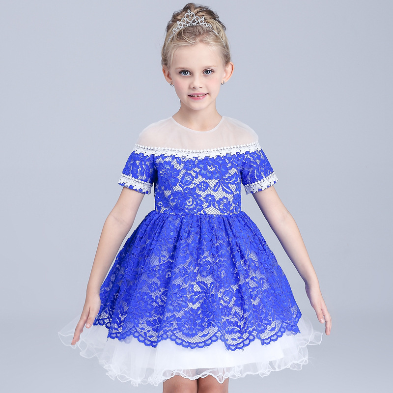 Girls   Dress Summer Princess  Lace Dresses   Kids Clothes Teenager Girl Dress 4-10 Years Birthday Clothing