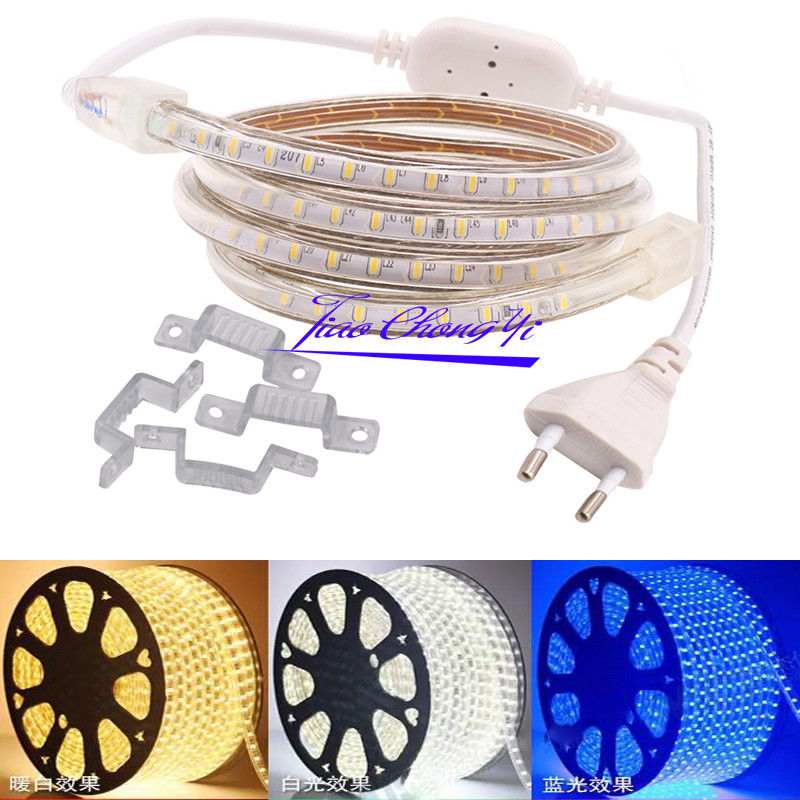 AC 220V Led strip light 3014 120LED/m waterproof white with EU plug 50M-100M недорго, оригинальная цена