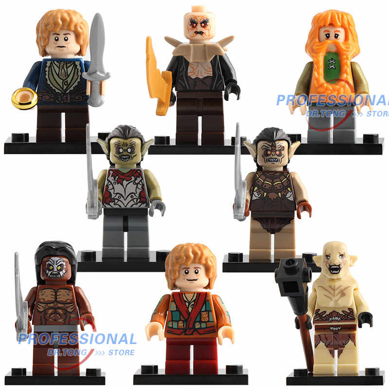 Đĩa đơn Chúa Tể Của Những Chiếc Nhẫn Hình Gandalf Thranduil Elrond Galadriel Merry Arwen Khối Xây Dựng Đồ Chơi Nhân Vật cho trẻ em