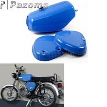Pazoma Motorbike Orange Blue Yellow Green Oil Tank Motorcycle Gas Fuel + 2 Side Cover Protector for Simson S50 S51 S70