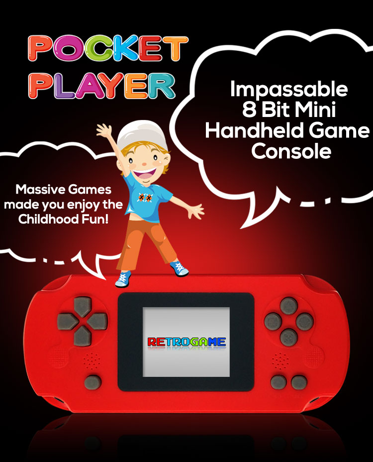 Portable Mini Handheld Game Console 8-Bit 2.0 Inch Color LCD For Kids Christmas Gift Retro Game Player Built in 268 Games