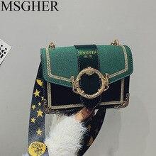 59c2deaab64a6 MSGHER torby dla kobiet Messenger 2018 luksusowa projektanta lamparta druku  węża Flap dionizos łańcuch kobiet PU