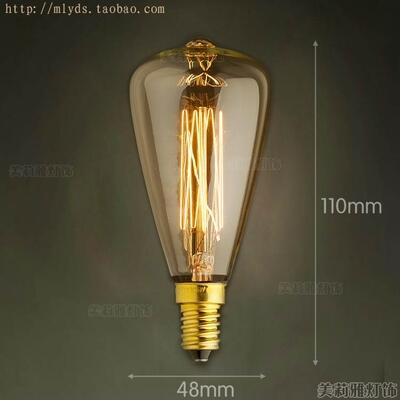 2pcs 40W E14 Retro Lampada Edison Lamp Bulb Bombillas Vintage Light Ampoules Decoratives Incandescent Bulb in Incandescent Bulbs from Lights Lighting