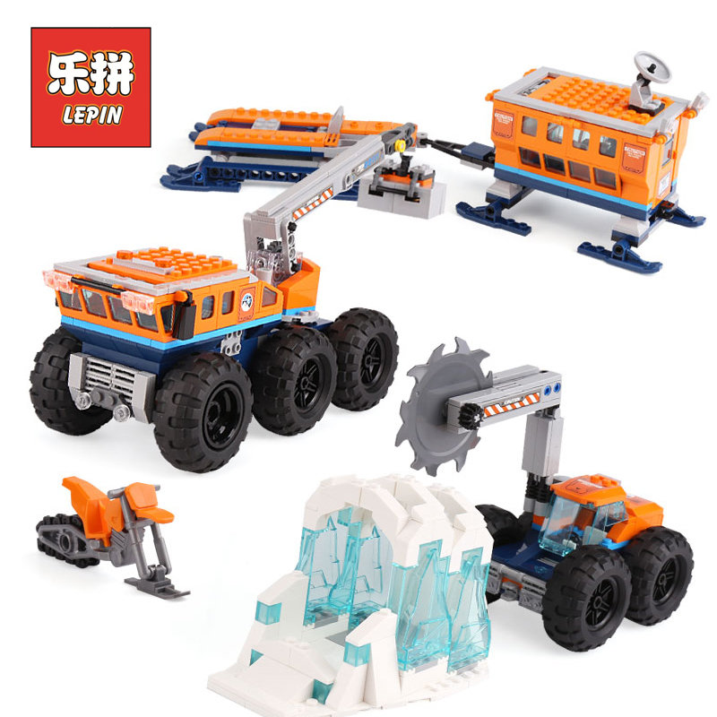 Lepin 02111 New City Series the Arctic Mobile Exploration Base Set Compatible 60195 Model Building Blocks Bricks Kids Toys Gift gold melting furnace machine 1kg casting refining precious metals melts gold silver copper tin aluminum