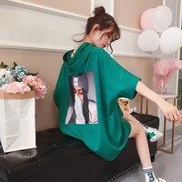 Loose Long T Shirt Women Cotton Ulzzang Korean Style Harajuku Streetwear Oversized T Shirt Vogue Plus Size Women Clothing 50H033