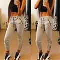 2016 Mulheres selvagens calças novas das mulheres Europeias e Americanas casuais solta calças selvagens calças zíper esportivos conforto feminino S2353