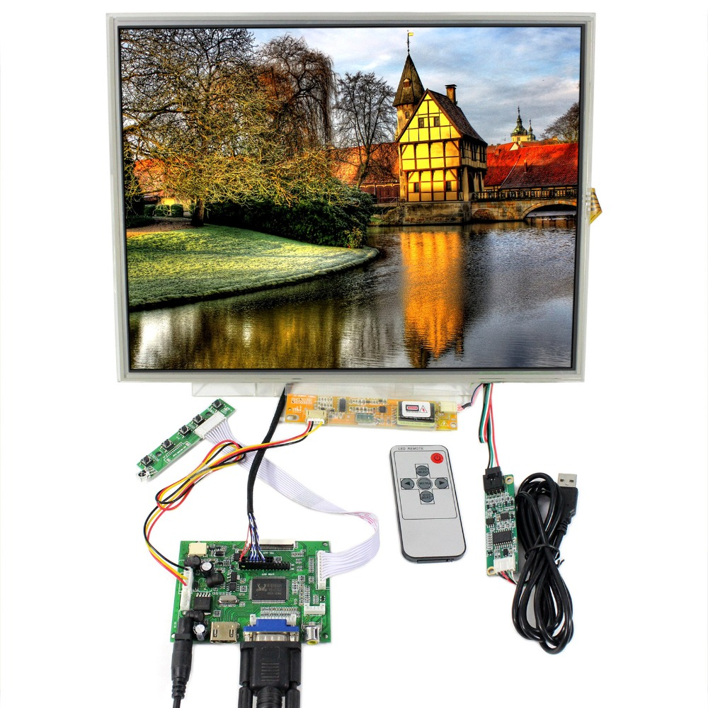 HDMI+VGA+2AV Control board With 15inch 1024x768 LP150XG08 LTN150XB LCD+Touch Panel  B150XG01 B150XG02 B150XG03 B150XG05 B150XG09 hdmi dvi vga control board 8 9inch n089l6 1024 600 lcd panel touch screen n089l6 l02 hsd089ifw1 b089aw01 v3 ltn089nt01