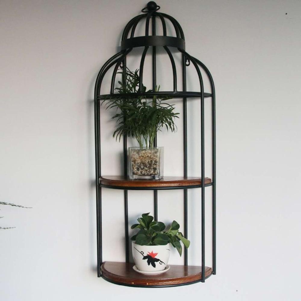 Rétro murs de fer vêtement Restaurant oiseau Cage fleur cadre moderne maison murs mur encadré décoration cadre 030 Y