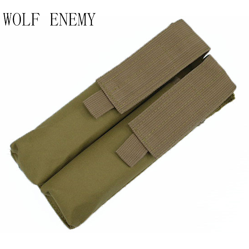 Hot Sale Combat P90 Airsoft Molle Double Taktikal Tentera UMP Magazine Pouch Bag Tactical Outdoor
