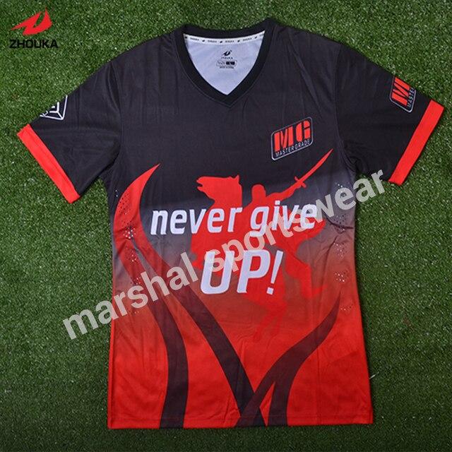 bfa1591ee13ff ¿Dónde puedo personalizada camiseta de fútbol 100% poliéster de calidad  superior de fútbol personalizada