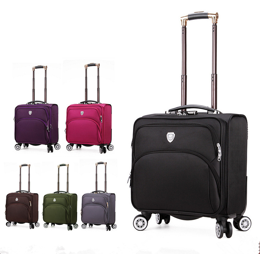 Male universal wheels trolley luggage 18 business casual oxford fabric travel bag women's fashion small cloth box cool fluid oxford fabric box luggage female universal wheels trolley luggage bag travel bag male luggage new 20 22 24 26 28bags