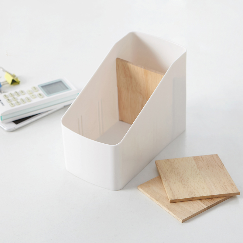 050 Removable wooden separator 4 lattice remote control receiver box combination stationery storage box 9 1 18 12 7cm in Storage Boxes Bins from Home Garden