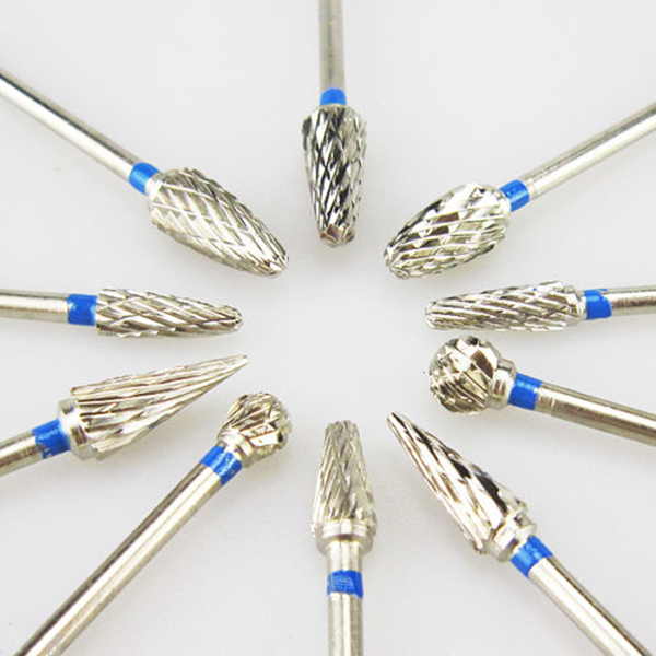 10pcs/box  Tungsten Steel Dental Carbide Burs Lab Burrs Tooth Drill Dental Lab Materials