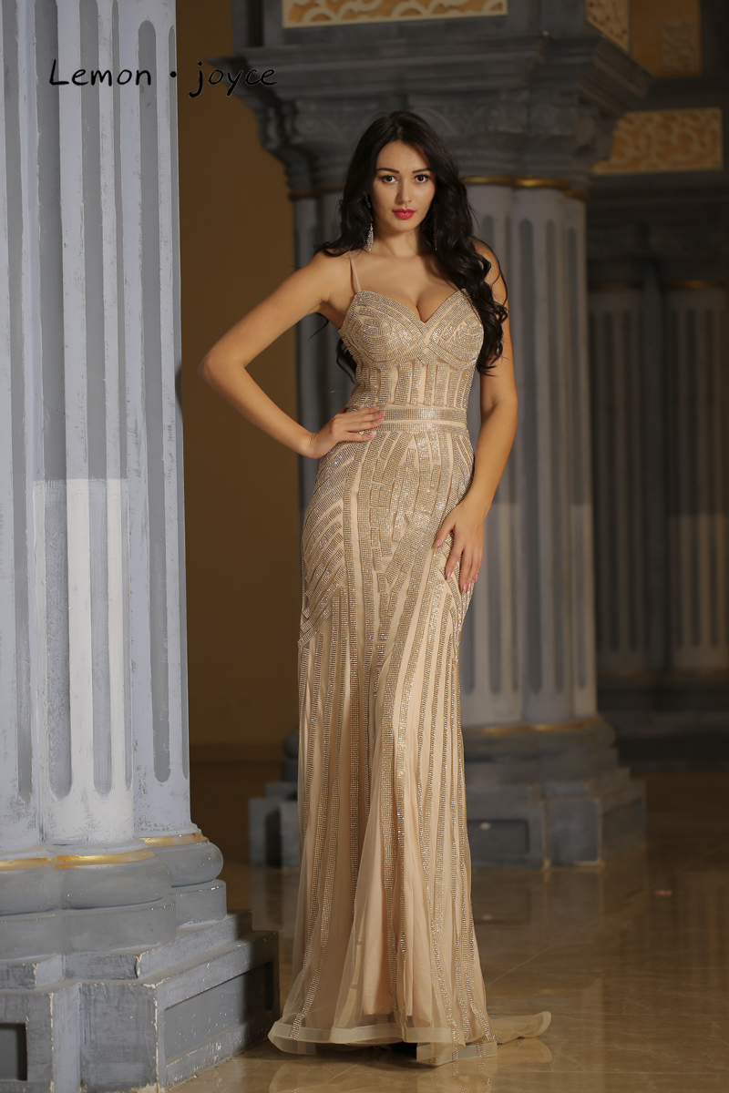 V-neck Mermaid Party Gowns