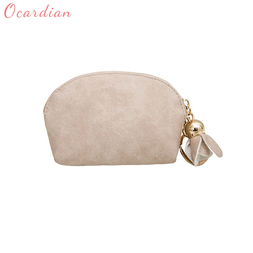 OCARDIAN High quality Women Leather Small Mini Wallet  Holder Zip Coin Purse Clutch Handbag 170428