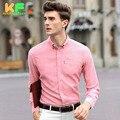 High Quality Men Shirt Long Sleeve Cotton Linen Dress Man's Business Clothing Turn-Down Collar Social Brand Shirts MDSS1512