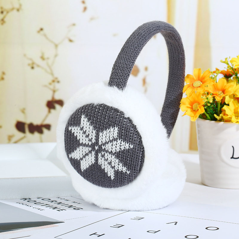 1Pc Women Girls Soft Snowflake Thick Plush Earmuffs Winter Warm Comfort Earmuffs Best Sale-WT