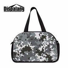 e8df7fd09 Dispalang نيس حقيبة سفر للرجال وصفت الملابس الشخصية بأقل سعر التمويه نمط  على القماش الخشن حقيبة