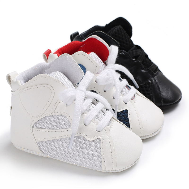 Newborn Baby Girl Boy Toddler Shoes Infant Casual Running Shoes Soft Bottom Comfortable High top Children Sneakers