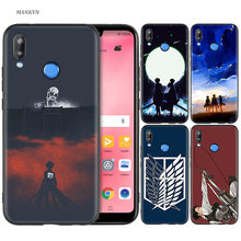 Funda de silicona negra para Huawei P30 P20 P10 P9 P8 Mate 10 20 Lite 2017 Mini Pro P smart Plus 2019 ataque en Titán Anime(China)