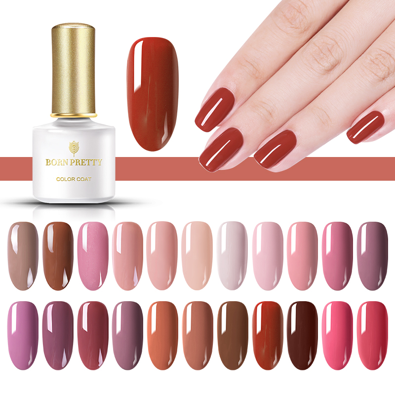 BORN PRETTY 6ML 40 Colors Nail Gel Polish Long Lasting Pink Color Soak Off Gel Varnish Lacquer Nail Art Manicure in Nail Gel from Beauty Health