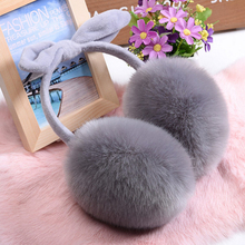 Lovely Rabbit Fur Winter Earmuffs Ear Cache Oreilles Warmers Winter Comfort Earmuffs Warm Winter Earmuffs For Women Girls