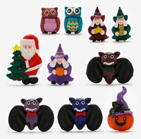 Hot Sale New Cute Halloween Santa Claus 3D Fridge Magnets Travel Souvenirs Refrigerator Magnetic Sticker Home Decor Gifts