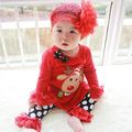 Baby Kids Christmas Children's Clothes Set Print Lovly  Long Sleeve T-shirt +Trousers Girls baby Girls Clothing Accessories