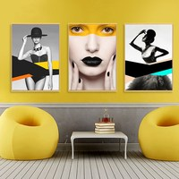 Simple 3D character decorative painting bedroom beauty salon hanging painting SPA health club background mural Art goddess