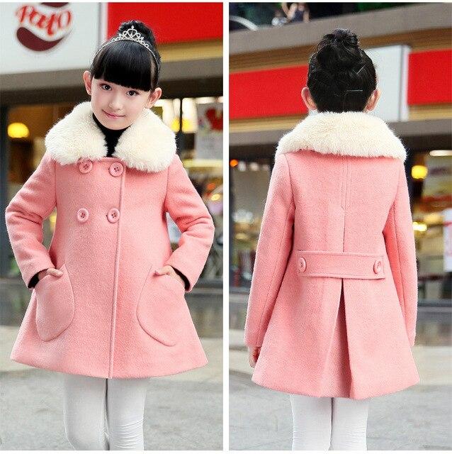 2015 осень / зима детская одежда для девочек шерстяное пальто куртка дети девочки принцесса пальто ну вечеринку одежды шерстяной костюм