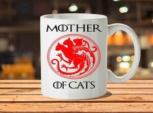 Кофейные кружки «Игра престолов» для матери кошек, 350 мл, дорожная фарфоровая кружка для пива, кофейного чая, подарочные кружки