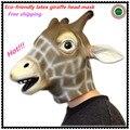 Free Shipping Animal Giraffe Head Mask Halloween Costume Party Christmas Theater Prop Creepy Giraffe head latex Face Mask