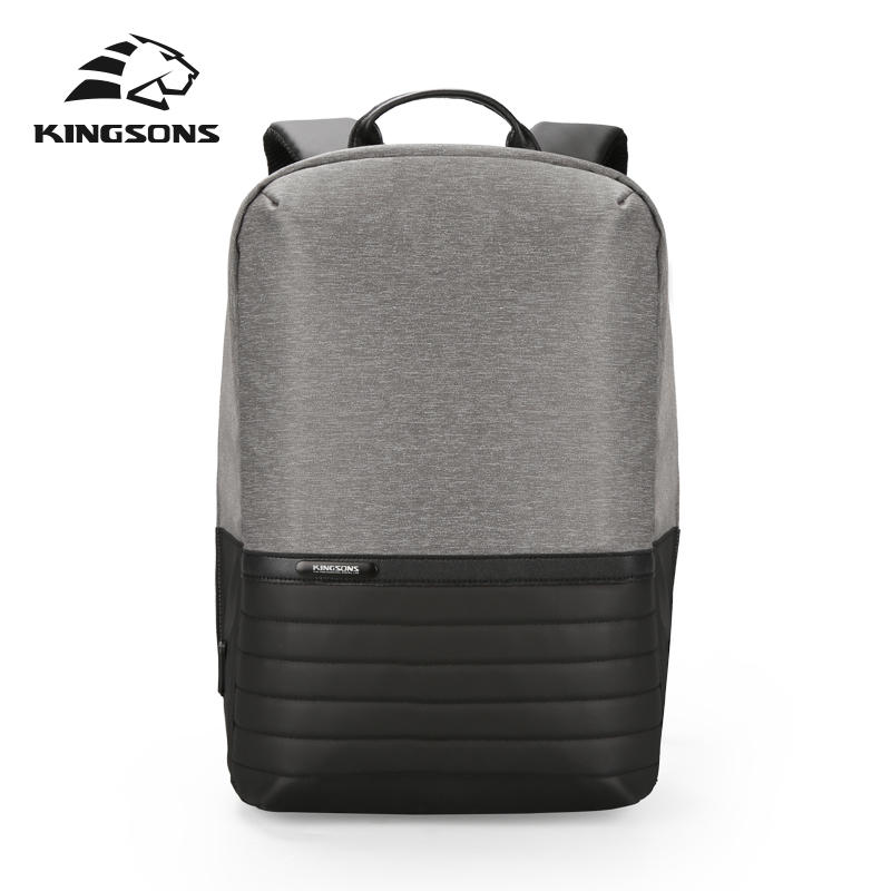 KINGSONS Waterproof Fashion 15.6 Inch USB Laptop Backpack for Men and Women School and Travel Computer Bag Anti-Theft Pocket